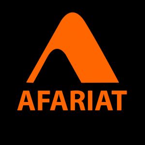 Logo Afariat sur fond noir 2