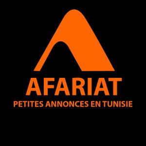 Logo Afariat sur fond noir 3
